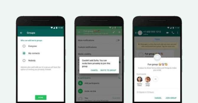 WhatsApp comienza a permitir filtrar quién puede invitarte a nuevos grupos